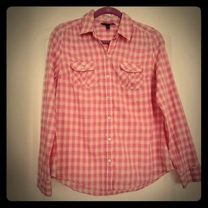 Express Tops - Express Plaid Camp Shirt